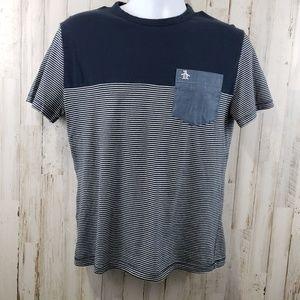 Penguin by Munsingwear Mens T-Shirt Blue White Str